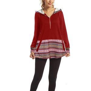 Sweatshirts Long Sleeve Tunic Top with Pockets